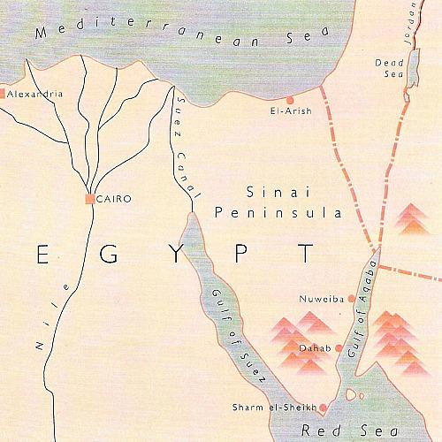 kaart van de Sinaï